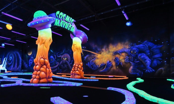 Cosmic Mayhem Blacklight Mini Golf San Antonio Tx Groupon