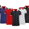 Men's Slim-Fit Short Sleeve Printed Polo Shirt