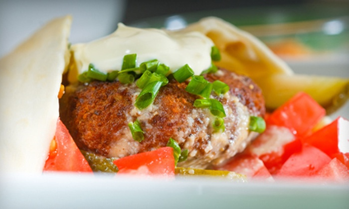 Pita's Café - Lower Nob Hill,Little Saigon: $15 for a Greek Meal with Wraps or Salads, Drinks, and Pastries for Two at Pita's Café (Up to $30.50 Value)