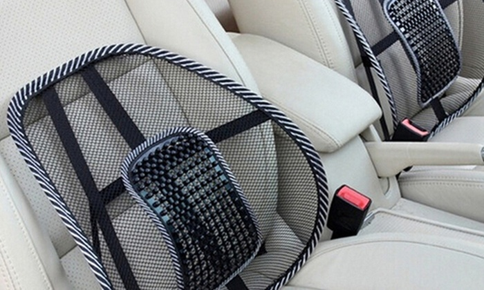 Curved Back Massaging Lumbar Mesh Seat Supporter 2 Pack