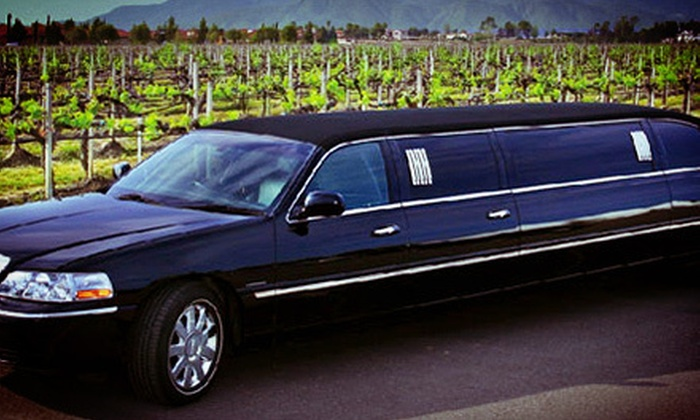 American Luxury Limousine - Ventura County: $250 for a Wine-Tasting Limousine Tour with Champagne for Up to Eight from American Luxury Limousine (Up to $502 Value)