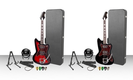 Silvertone Classics Electric Guitar Set. Multiple Colors Available.