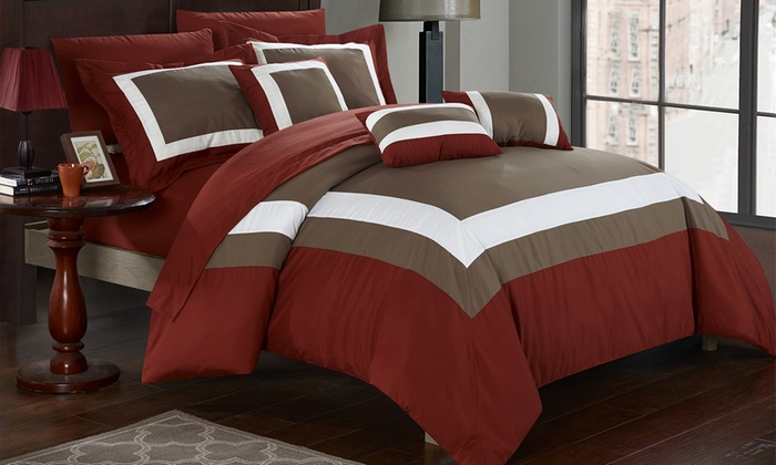 Up To 82 Off On 10pc Bed In A Bag Comforter Sets Groupon Goods