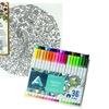 Secret Garden Peacock Color Canvas and Fine Line Pen Set