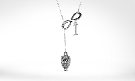$5 for a Personalized Lariat Owl Infinity Necklace from Monogramhub.com ($49.99 Value)