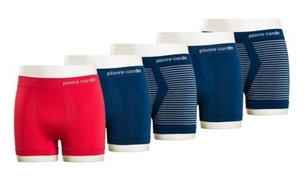 5 nahtlose Pierre Cardin Boxershorts in Schwarz, Blau oder Rot
