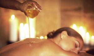 Une Pause Bien Être (New): Een gezichtsverzorging Tahiti Dream violet en framboos en een massage met essentiële oliën