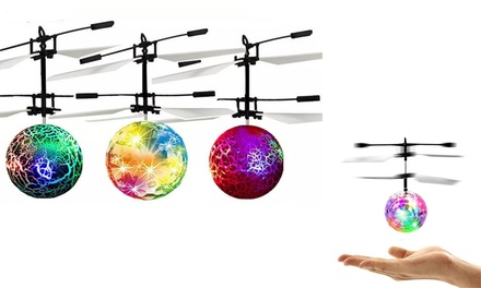 Electric Flying Helicopter LED Ball: One ($12) or Two ($18)