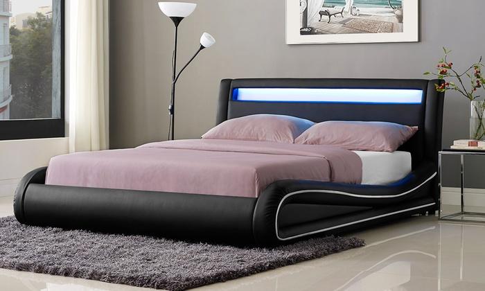Omega LED Bed Frame with Optional Mattress