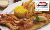 Jimmys Killer Prawns - Various Branches: Three-Course Meal for R229 for Two (50% Off)