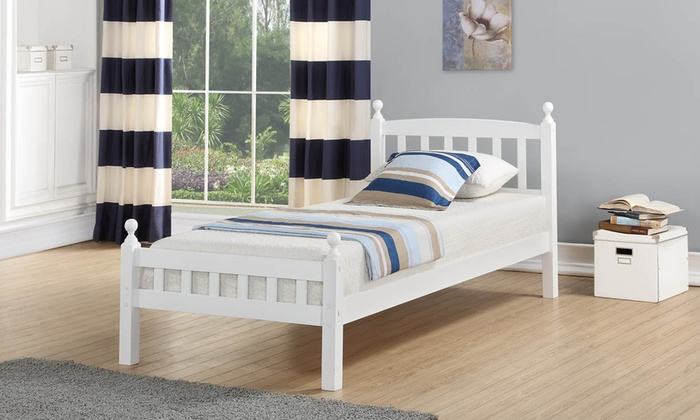 Juliet Solid Wood 3ft Bed Frame and Optional Orthopaedic Mattress from £79
