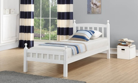Juliet Solid Wood 3ft Bed Frame and Optional Orthopaedic Mattress With Free Delivery