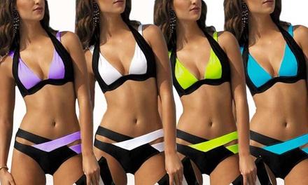 Léana tweekleurige bikini verkrijgbaar in verschillende kleuren en maten voor € 19,99 (43% korting)