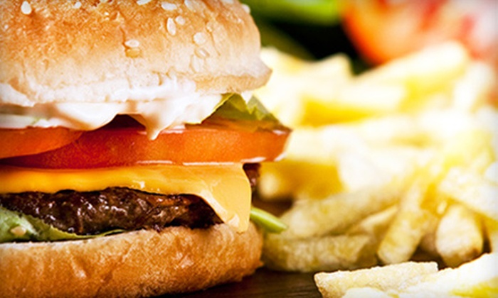 Cafe 50's - Los Angeles: $15 for Burgers and Deluxe Shakes for Two at Cafe 50's (Up to $29.68 Value)
