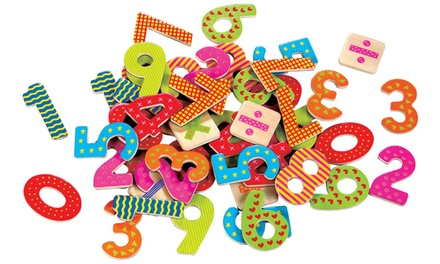 Lelin Wooden Magnetic Alphabet/Numbers