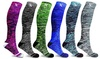 XTF Space Dyed Knitted Compression Socks (3 or 6 Pairs)