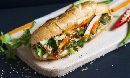 """2x oder 4x vietnamesisches Baguette """"BÁNH MÌ"""" inkl. Getränk bei GAO Fresh.Food.Fast (bis zu 33% sparen*)"""