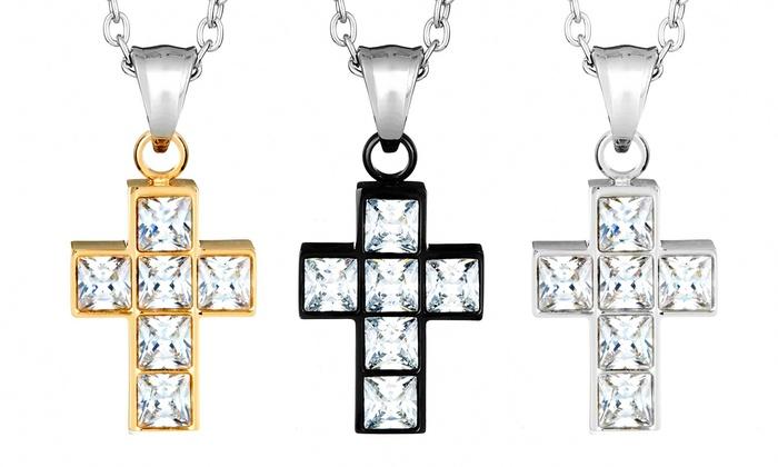 Cubic Zirconia Cross Pendants | Groupon Goods