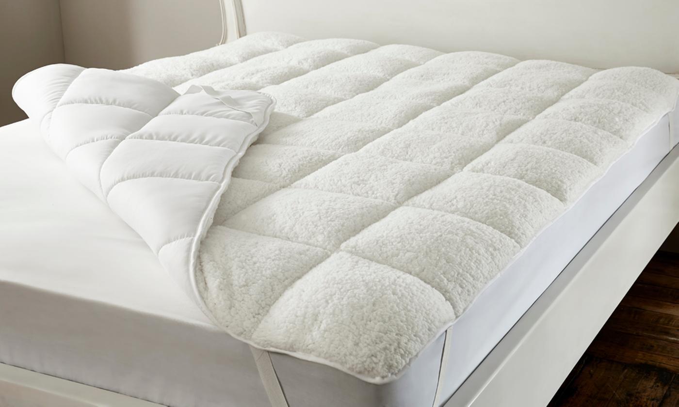 Reversible Teddy Fleece Mattress Topper