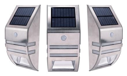 1 o 2 luci led da esterno ad energia solare con sensore di movimento