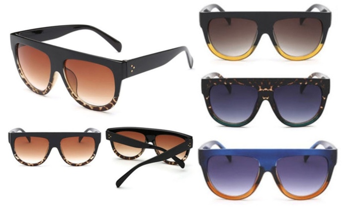 03bae612a74 Up To 85% Off Flat Top Oversized Sunglasses