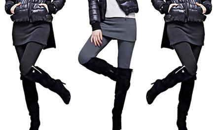 Cotton Stretch Skirt Leggings