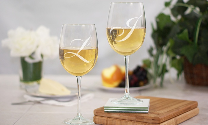 GiftsForYouNow.com: $19.98 for an Engraved Couples Wine-Goblet Set from GiftsForYouNow.com ($29.98 Value)