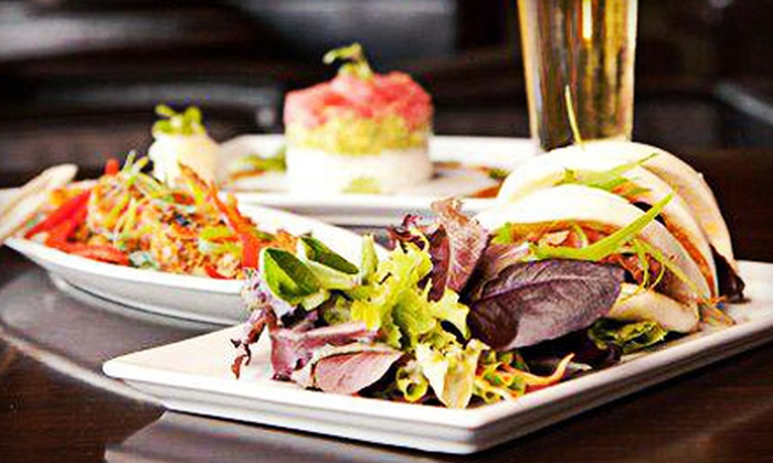 OM Modern Asian Kitchen and Sushi Bar - Ward 3: Pan-Asian Cuisine and Catering at OM Modern Asian Kitchen and Sushi Bar (Up to 52% Off). Three Options Available.