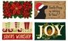 Winter Holiday Coir Doormat