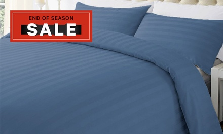 for a 1000TC Microfibre Stripe Quilt Cover Set in a Choice of Colour and Size Don't Pay up to $199