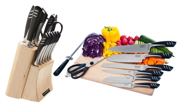 """""""Top Chef"""" Knife-Block Sets: 9- or 15-Piece """"Top Chef"""" Knife-Block Set (Up to 59% Off). Free Returns."""