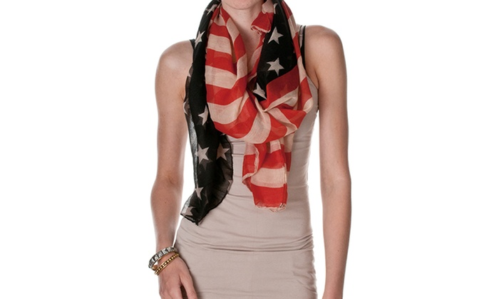 Riverberry Women's American Flag Scarf: Riverberry Women's Vintage-Style American Flag Scarf. Free Returns.