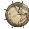 Urban Designs The New World Ship-Wheel Wall Clock