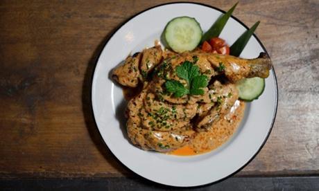 Menú de pollo sudafricano para  2 o 4 personas con acompañamiento, postre y bebida desde 16,95 € en Spice Bcn