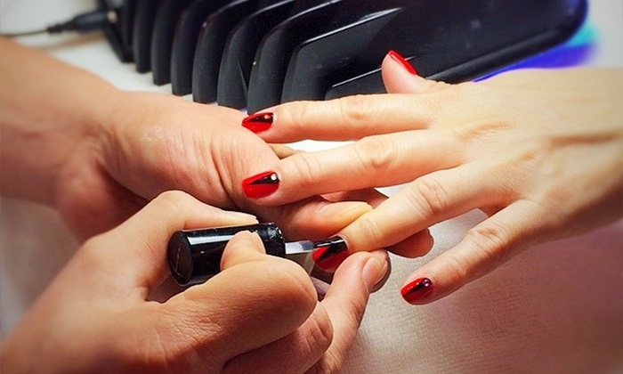 La Bona Nail Care & Spa - Countryside: One or Three Gel Manicures or One Gel Manicure and Spa Pedicure at La Bona Nail Care & Spa (Up to 31% Off)