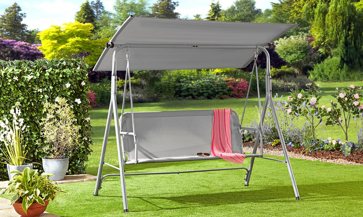 Garden Gear 3-Person Swing Seat with Adjustable Canopy