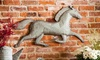 Running Horse Hanging Metal Wall Decor: Running Horse Hanging Metal Wall Decor
