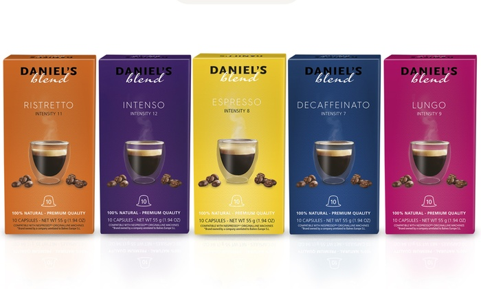 100 cápsulas de café Daniel's Blends compatibles con máquinas Nespresso