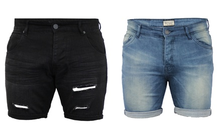 Brave Soul Men's Rex and Merlin Skinny Denim Shorts for £14.99