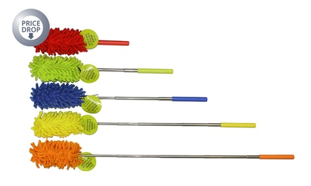 Extendable Microfibre Cleaning Duster or Pair of Mop Slippers from £1.99
