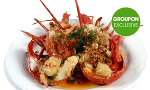 Lobster Cave: Seafood Dining with Wine ($99) or Seafood Platter with Champagne ($149) for 2 People at Lobster Cave (Up to $399 Value)