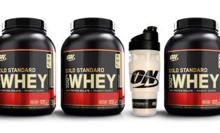 Optimum Nutrition Gold Standard Whey Protein Powder w/Free Shaker Cup