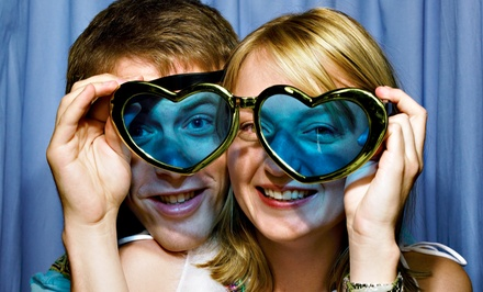 Washington DC: Four-, Five-, or Six-Hour Photo Booth Rental Package from Gold Rush Event Services (Up to 67% Off)