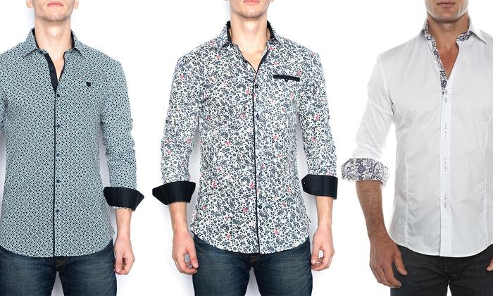 Men 39 s cotton button down shirts groupon goods for Mens 100 cotton button down shirts
