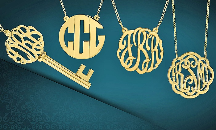 MonogramHub: Personalized Jewelry from MonogramHub (Up to 65% Off). Two Options Available.