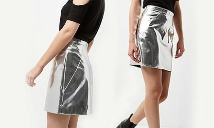 Metallic Mini Skirt for £6.98