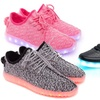Black, Pink, or Grey Low-Top or Black or Red High-Top LED Shoes