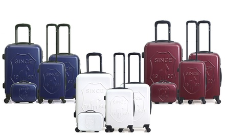 Set composto da 3 valigie e 1 vanity case in ABS Darcy-C Gentleman Farmer disponibile in 5 colori