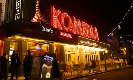 Krater Comedy Club and Burger Meal for Up to Four, 11th January - 29 April, Komedia Brighton (Up to 50% Off)