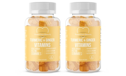 Premium Turmeric and Ginger Gummies (1- or 2-Pack)